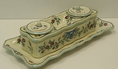 Enamels Porcelain Renaissance Style Office Writing case Inkwell