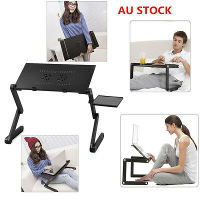 Laptop Desk Table Stand Bed Tray Adjustable Portable Folding For Notebook Black