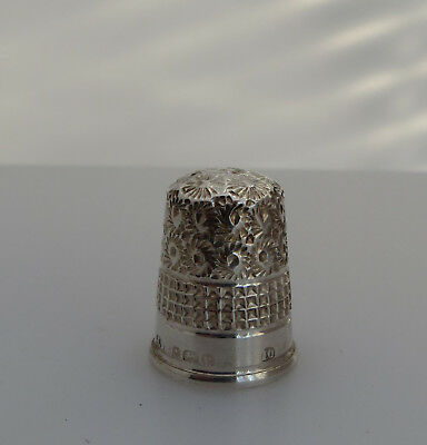 Hallmarked Silver Sewing Thimble No10- J.f May Interest James Fenton Collectors?
