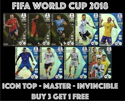 Icon Top Master Invincible Panini World Cup 2018 Adrenalyn Xl