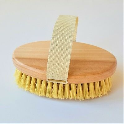 Professional Dry Skin Body Brush with Cactus Bristles Hard Strength