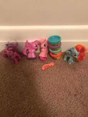 My Little Pony Play Doh Set And ponies