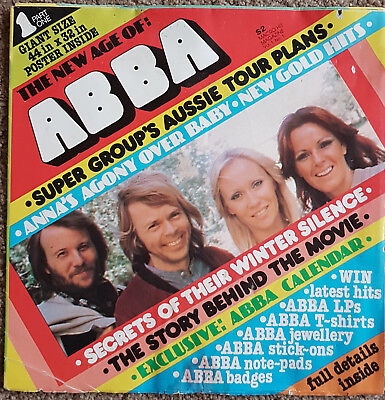 ABBA Huge Fold Out Poster Book - Australia 1977