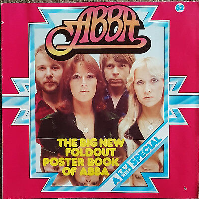 ABBA TV Fold Out Poster Book - Australia 1977 - Huge !