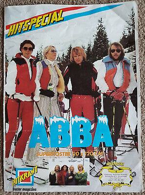 ABBA Hitkrant Poster Magazine - Huge Size - Switzerland Special 1979