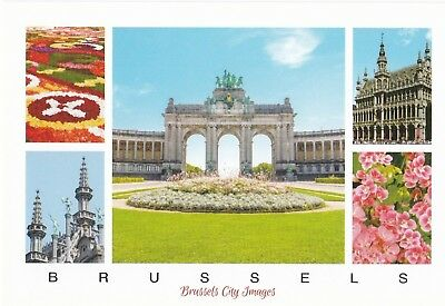 Lot de 2 cartes postales de Bruxelles - 2 postcards Brussels - 2 cartoline Bux