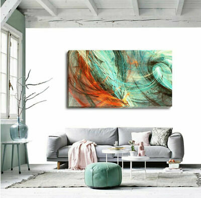 Abstract Stretched Canvas Print Framed Wall Art Home Office Shop Bar Decor DIY