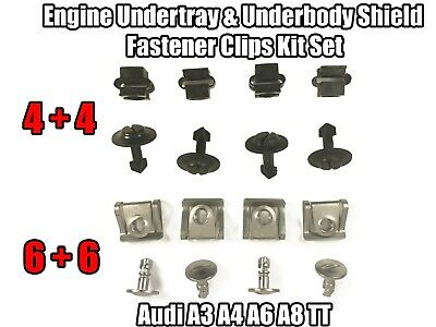 Clips For Audi A3 A4 A6 A8 TT Engine Undertray Underbody Panel Fastener Kit Set