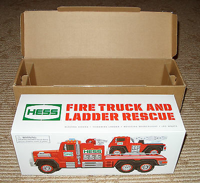 2015 Hess Toy Fire Truck and Ladder Rescue! Brand New in Box! Batteries Included