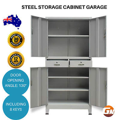 Steel Storage Cabinet Metal Office Stationary Cupboard Filing Drawers
