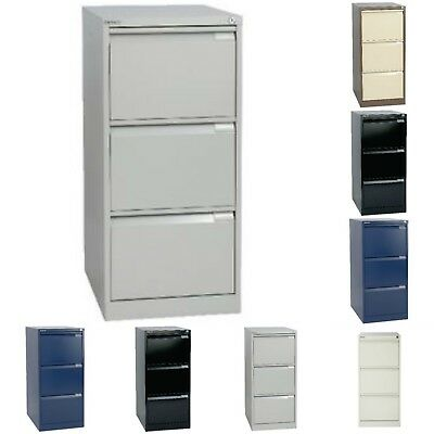Bisley 3 Drawer Steel A4 Locking Filing Cabinet Various Colours Free Uk Del