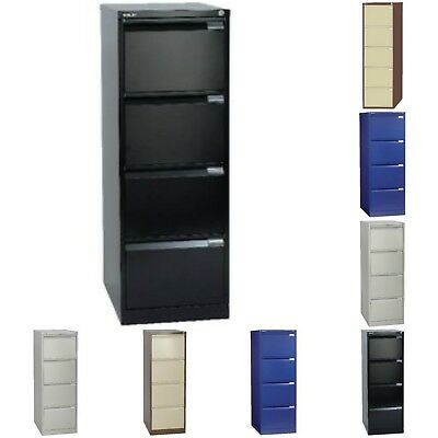 Bisley 4 Drawer Steel A4 Locking Filing Cabinet Various Colours Free Uk Del