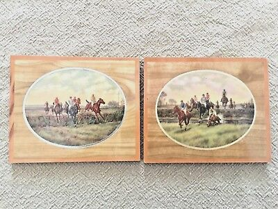 Vintage 1930s Miniature Horse Racing Jockey Equestrian Wall Hangings Decor
