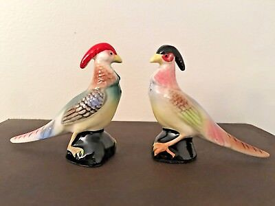 Vintage Bird Pheasant Salt and Pepper Shakers