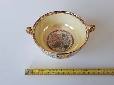 maling pottery peony rose small bowl