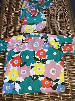 Baby Boden Swim Suit All In One With Hat 18-24 Months. Baby Girl Floral