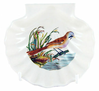 Portmeirion Birds of Britain Soap Scallop or Shell Dish Bearded Tit NEW/UNUSED