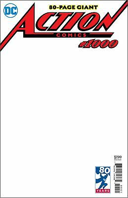 Action Comics Superman comic #1000 Cover J Blank Variant Cover