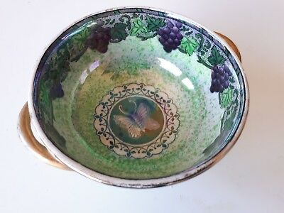 maling pottery small bowl grapes and butterfly