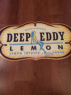 New Deep Eddy Lemon Vodka Yellow Metal Tacker Tin Wall Sign Free Shipping