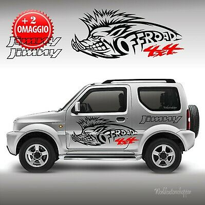 2 Kit Adesivi Decal Stickers Jimny Cinghiale Off Road 4x4