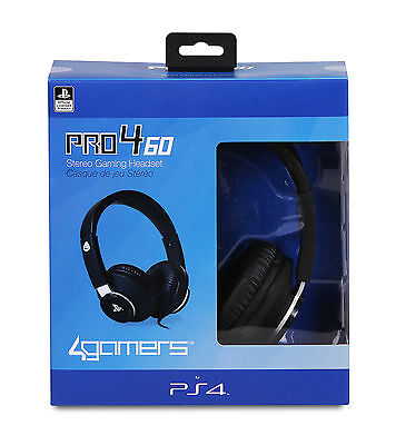 4GAMERS PRO4-60 Stereo Gaming Headset for Playstation VR Black