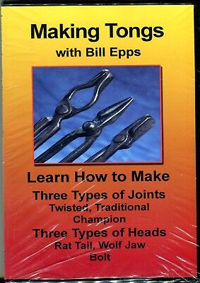 Making Tongs with Bill Epps DVD Learn How to Make Three Types of Joints Twisted,