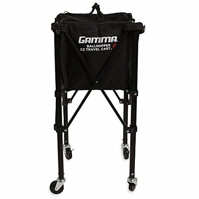 Gamma Sports EZ Travel Cart Pro 150 Ball Hopper Black Premium Tennis Teaching