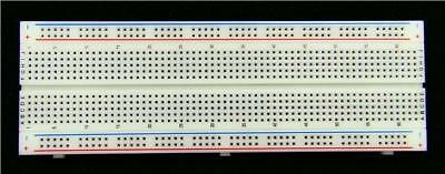 1 x Solderless Breadboard 830 Silver Contacts 165 x 55mm Electronics Prototype