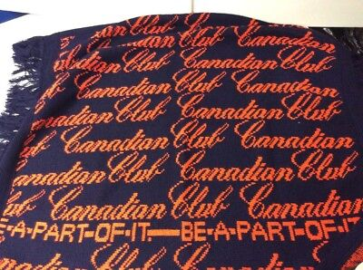 Canadian Club Whiskey Blanket 41 X 49 Be A Part Of It wall hanging Afghan Throw
