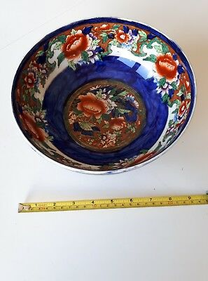 large maling bowl peonys and butterfly
