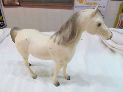 Vintage Breyer Horse White Arabian Stallion With Gray Tips