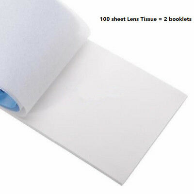 100 Sheets Soft Camera Lens Tissue Filter Screen Cleaning Paper Booklet 10x15cm