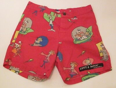 The Jetsons Life's a Beach Surf Gear Shorts Size 29 George Jane Judy Elroy Astro