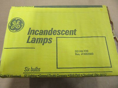 (6) GE 42590 Incandescent Lamps 15S14/FBB 14W 34V NEW!!! in Factory Packing