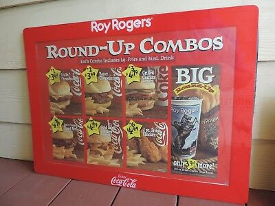 Vintage Old Roy Rogers Restaurant Menu Board Sign Display