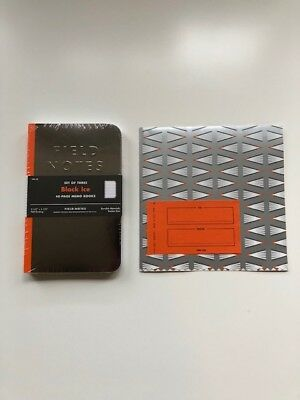 Field Notes Quarterly Edition Black Ice with extras