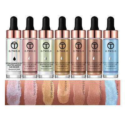 O.TWO.O Liquid Highlighter Makeup Shimmer Gesicht Glow Bilden Highlight