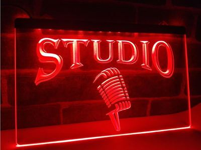 Studio LED Neon Sign Home Light Recording On Air Red Quiet Music DJ Radio Bar