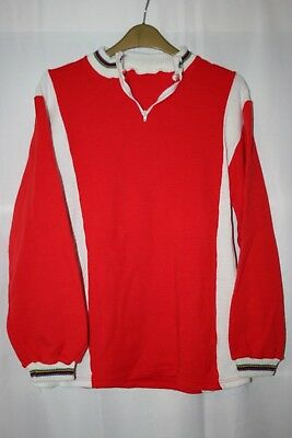 Red - White - UCI Champion Mens Rare Vintage Acrylic/Wool Cycling Jersey L/XL