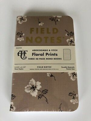 Field Notes Limited Edition AnF Floral Prints
