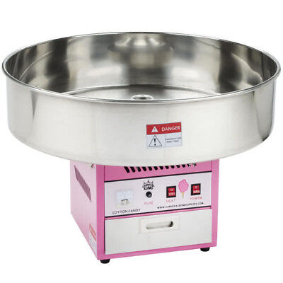 """Carnival King CCM28 Cotton Candy Machine 28"""" Stainless Steel Bowl - 110V"""