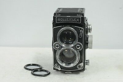 Rolleiflex 2.8D Xenotar with Mirror Cap & Rollei Matte Screen TLR Film Camera
