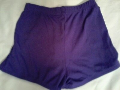 Girls CHEER shorts PURPLE Spirit Wear Gym Athletic Youth SMALL Fast Shipping