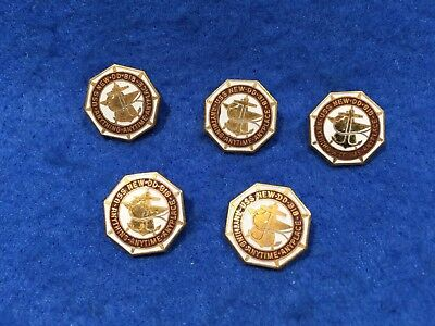 Lot of 5 1960's Vintage US Navy USS New DD-818 Pins