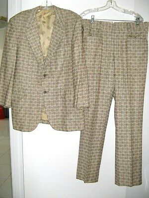 BILL BLASS SUIT BILL BLASS FOR PBM 1969 JACKET & PANTS Size 42 Vintage 60's
