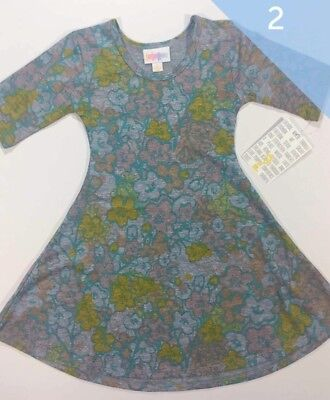 NWT Lularoe Mommy and Me Dresses Solid Floral  Pastel 2xl Nicole 2T Adeline
