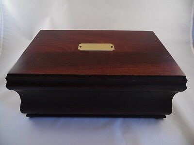 REED & BARTON Vintage Jewelry Music Box Wood Removable Tray Reuge Movement
