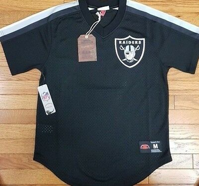 9b7f66a1 OAKLAND RAIDERS MITCHELL & Ness NFL mens zip uo jacket large los ...