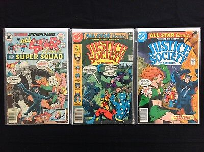 ALL STAR COMICS Lot of 3 DC Comic Books - #63 70 72!